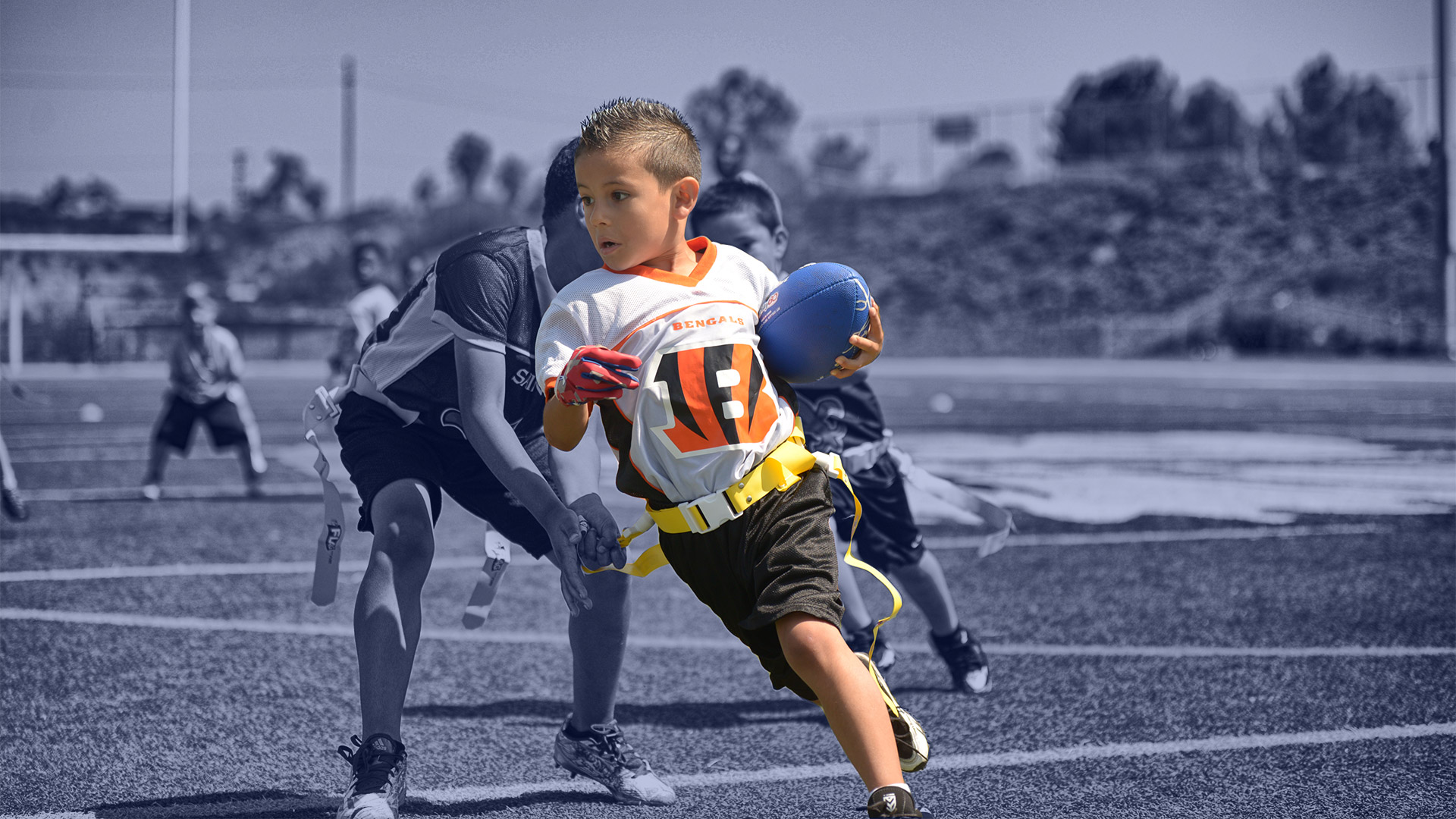 Youth Football Player Bengals